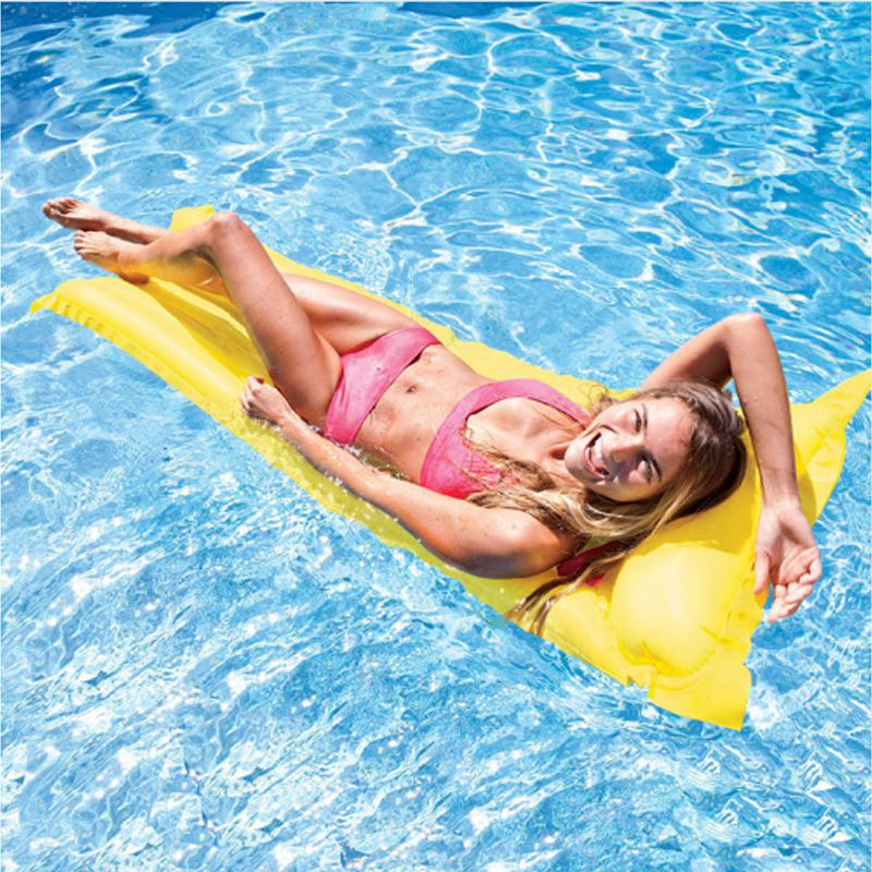 Adults Kids Inflatable Swimming Air Mattress Inflatable Floating Row Bed Swim Pool Float Tube Raft Floats Ring Water Boat Kickboard Beach