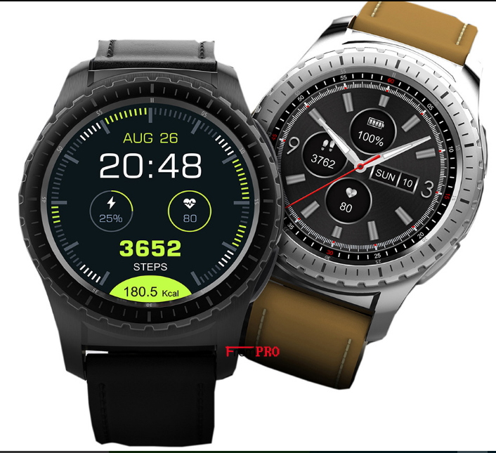 """K28 3G Smart Watch With Android 4.4, WCDMA WiFi Bluetooth SmartWatch GPS 1.4"""" Display"""