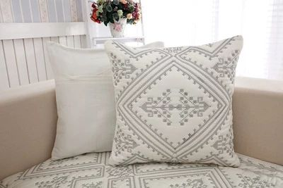 2018 new kind hot sale 100%cotton simply cross-stitch four seasons of sofa cushion set
