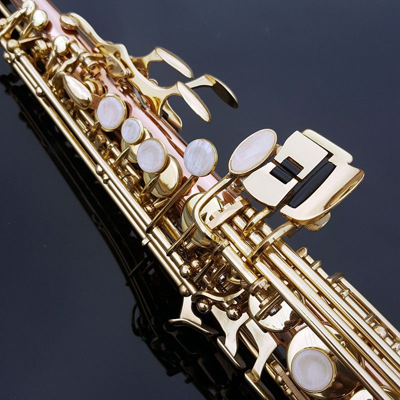 HOT Authentic SelmerSoprano one tube 54 type B flat phosphor bronze gold key saxophone instrument maker DHL / EMS free shipping
