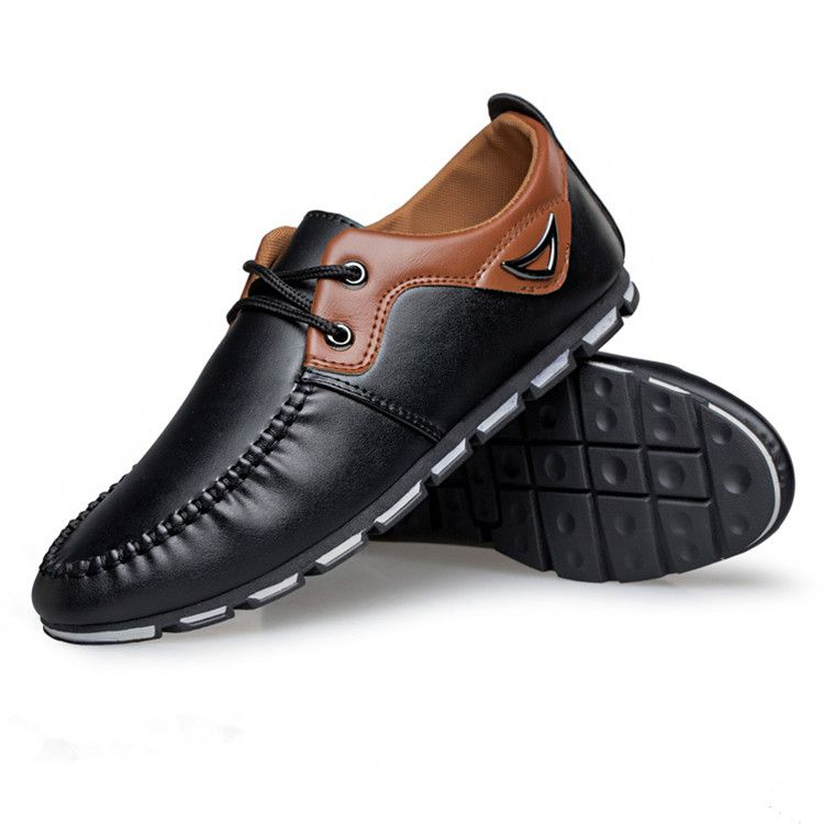 Wholesale Hot SlaeFREE SHIPPING NEW MEN'S CASUAL SHOES LOAFERS LEATHER SHOES MEN DRIVING SHOES SIZE 39-44
