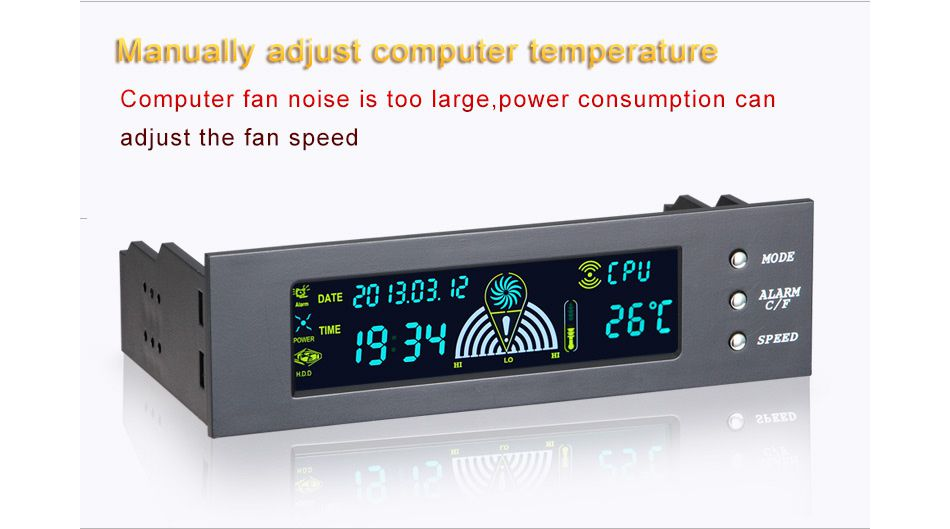 pc case front panel 5 25 inch 3 channel lcd fan controller panel rh dhport com Local Controller Manual Fork Lift Controls