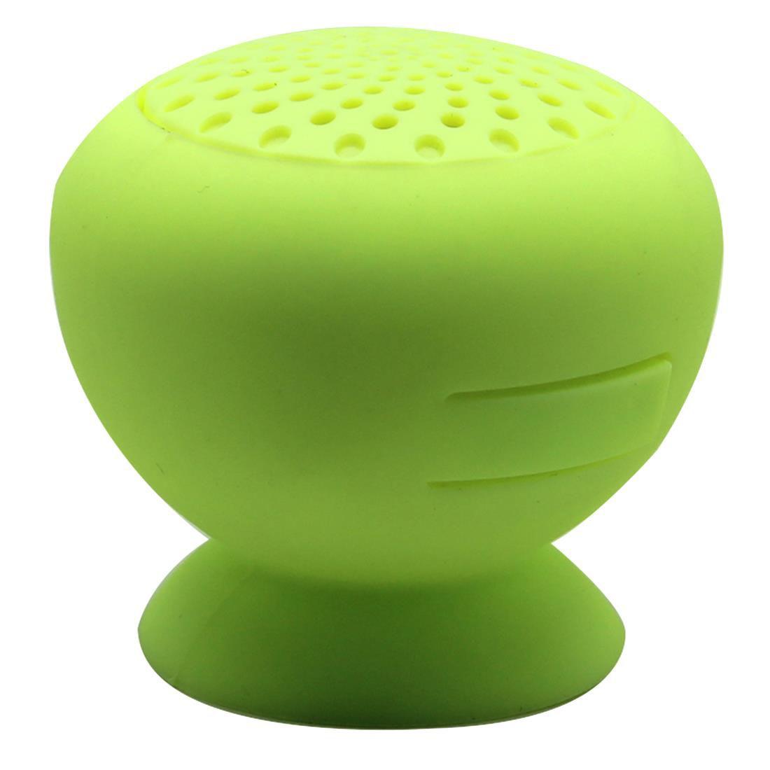 Mini Bluetooth Speaker Portable Wireless Hands free Car Kit Speaker Mushroom Shape Waterproof Silicone Suction