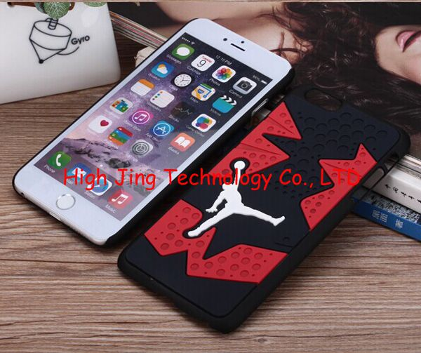 3D Jordan sneakers Sole PVC Rubber Cover For iPhone 6 Plus Jump man Phone Case for iphone 6 6plus