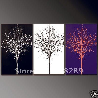 abstract oil paintings tree high quality home decorative painting Beach Modern absatract wall art canvas adornment gifts 457