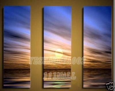 beach sea sunset sunrise oil painting Small wholesale Modern abstract art canvas adornment A19