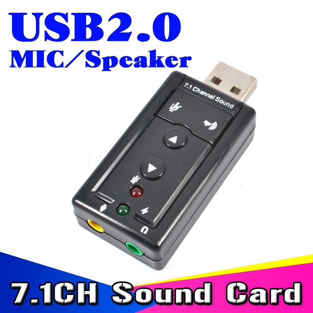 Mini External Usb 20 Sound Card 71 Channel 3d Virtual 12mbps Audio Mic Speaker Adapter Microphone