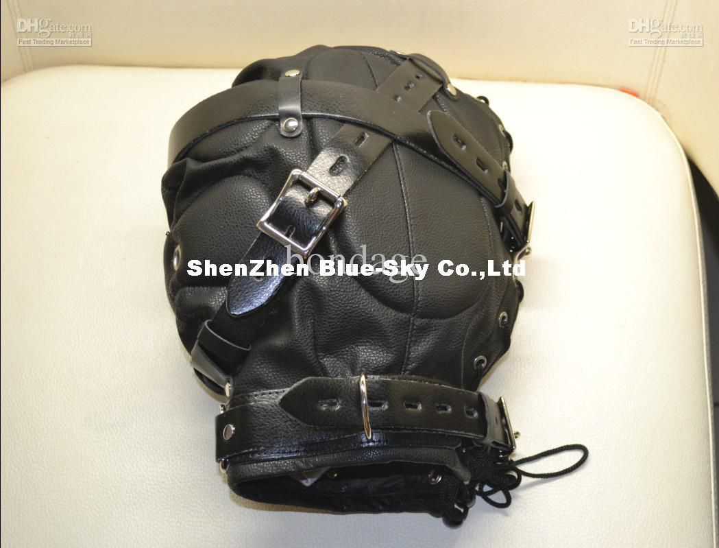 kind photos Heavy Duty Leather Hood or Mask Leather peep, masks, hoods Head bondage
