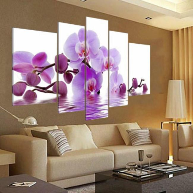 The Orchid Flower Oil Painting On Canvas Handpainted Modern Design High Quality Top Home Decoration For Christmas Decoration Nice Wall Art