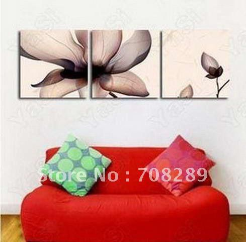 oil painting on canvas art home decoration modern abstract wall art oil paintings rose FLOWERS frameless living room A349