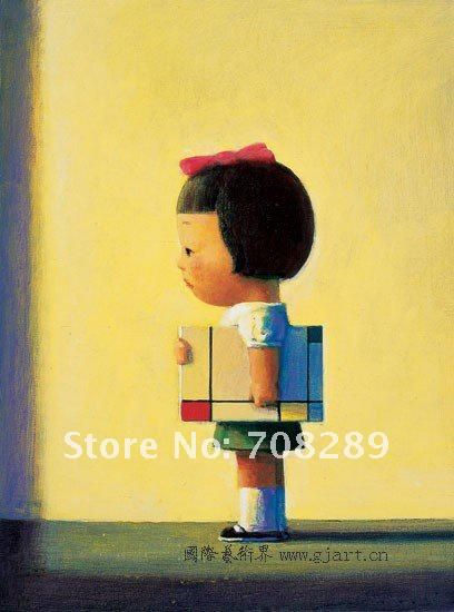 sexy Modern home decoration picture angels girl Figure abstract oil painting on canvas art present 100% hand painted liuye 45