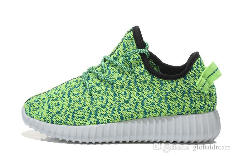 Brand Design High Quality Kids Shoes yeezy 350 boot 2016 Apring-Autumn Knitted Casual Boys Shoes Girls Sneakers Children Shoes size 28-46