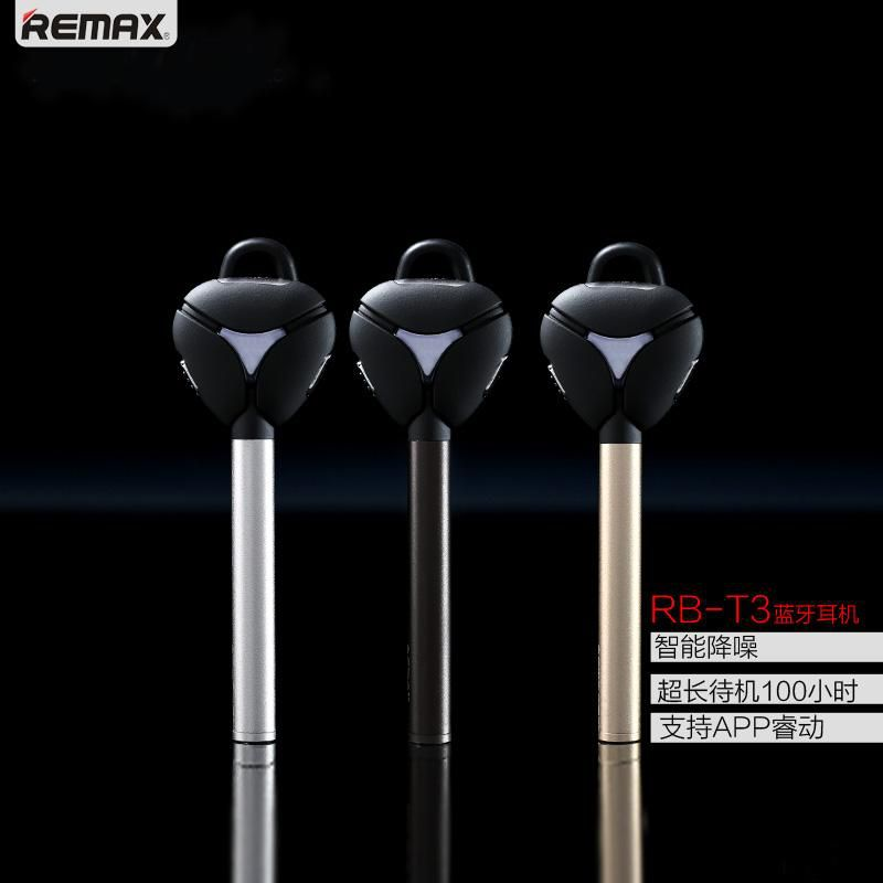 Original Brand New REMAX RB-T3 Bluetooth Headphone V4.1 Stereo Bass Earphone Ear Hook Headset Noise Cancelling High Quality Free Shipping