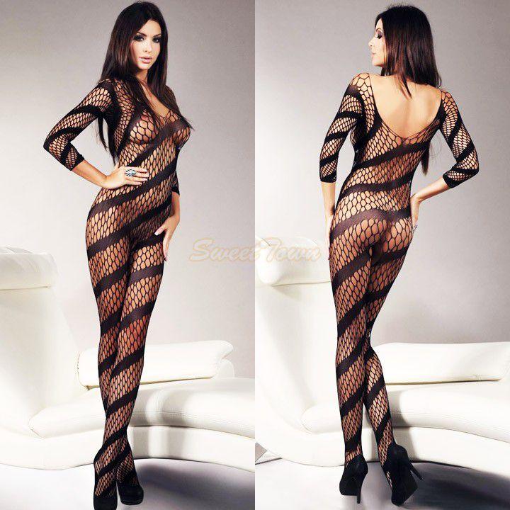 New design Promotion Women's Bodystocking open crotch bodystocking Sexy Lingerie Bodysuit Costume 35