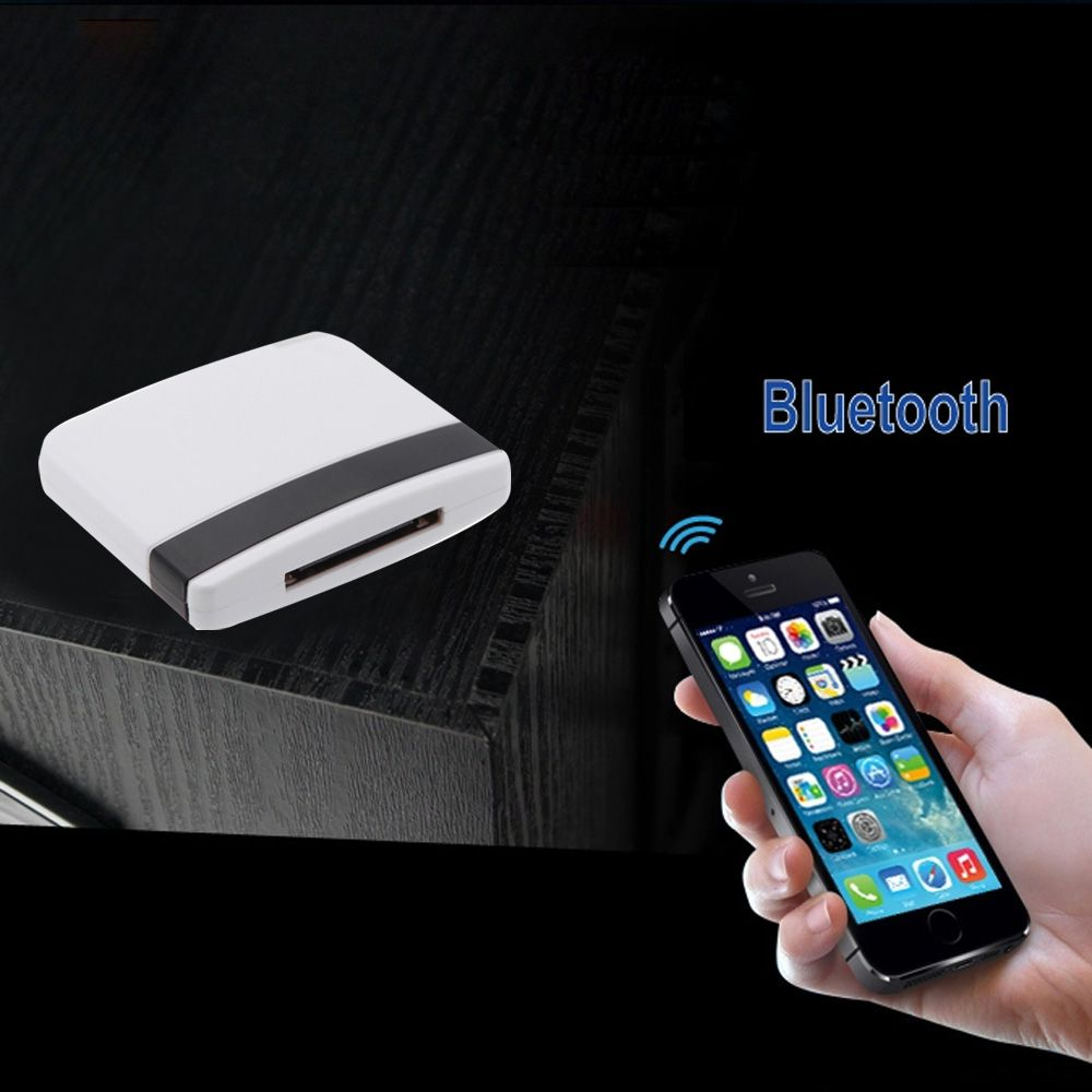 Hot sale Bluetooth A2DP Music Receiver Audio Adapter for iPad iPod iPhone 30Pin Dock OVC3860 Stereo Sound Chip V902