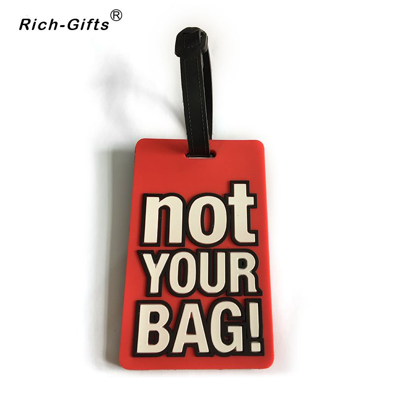 Customized persional Soft rubber PVC Travel Luggage Tag(RL-006)