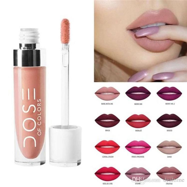 High quality Dose Of Colors Liquid Matte Lipstick Waterproof Lipgloss Free shipping