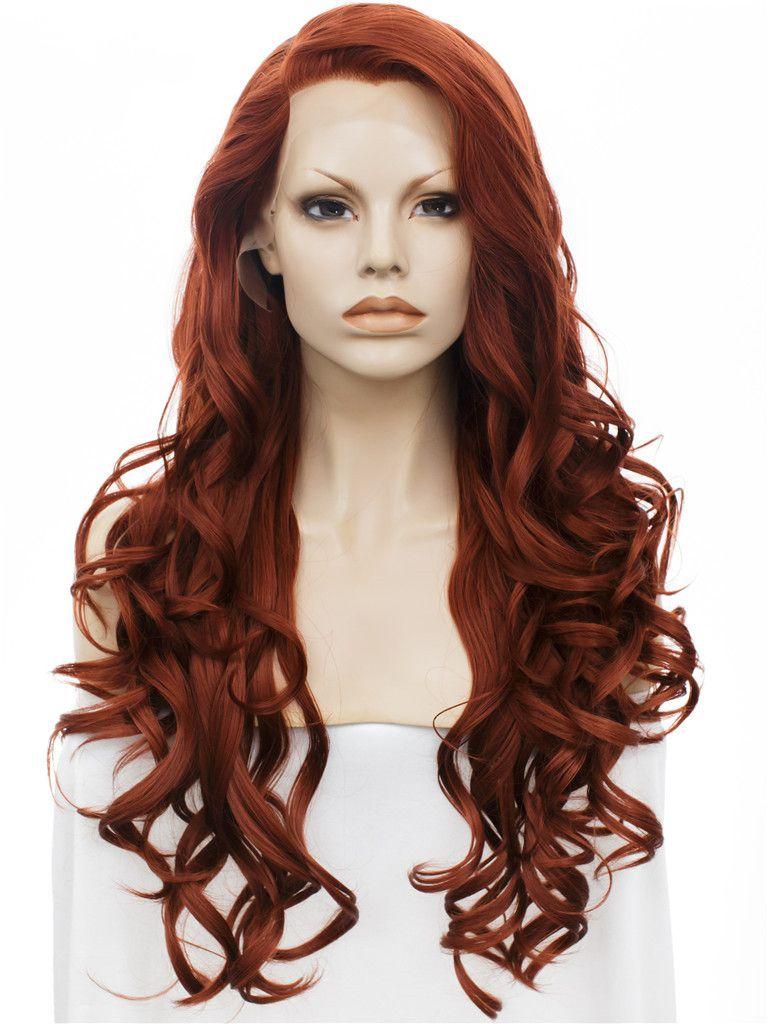VIYA Women Dark Red Wigs Long Bobo Wigs Human Hair Heat Resistant Wavy Wig WY0925B