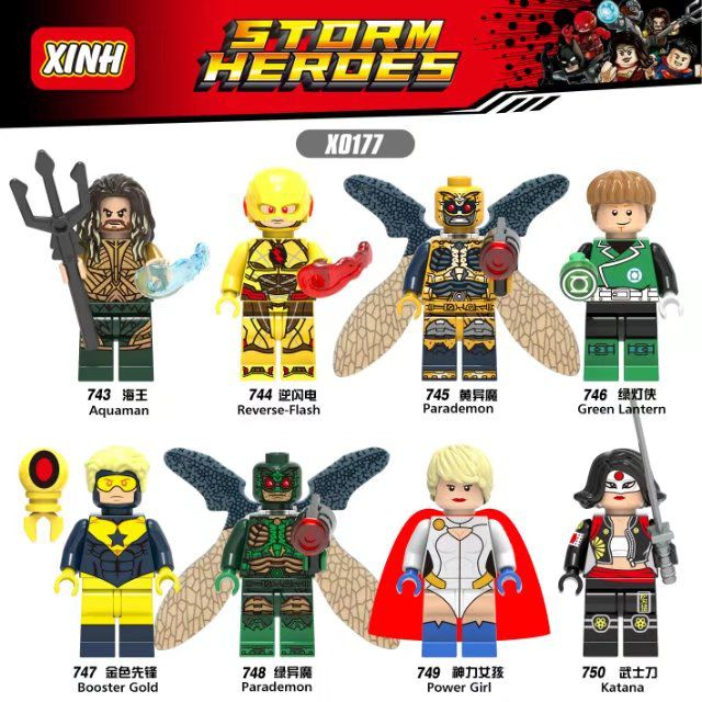 Green Lantern Reverse-Flash Power Girl Gooster Gold Super Hero ...