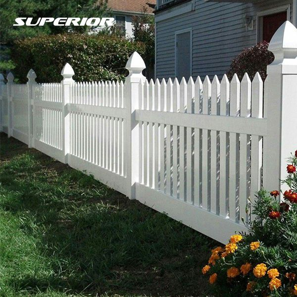 PVC Garden Picket Fence