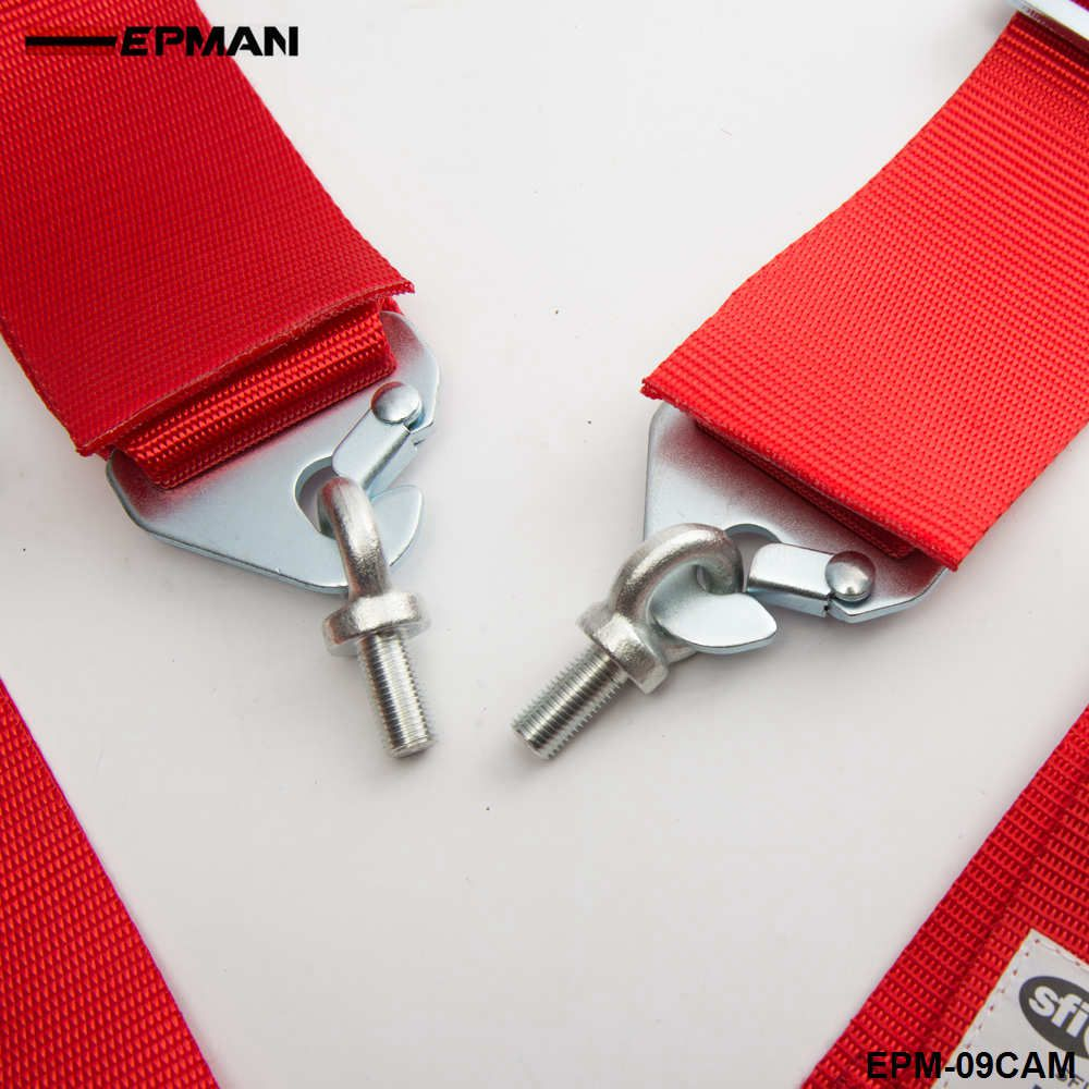"EPMAN Racing Safety Harness 5 Point Seat Belt 3"" Quick Release Cam Lock Sfi 16.1 Certified EPM-09CAM"