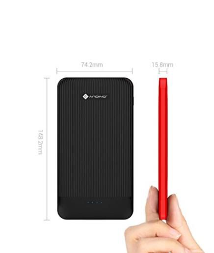 Andino PowerTWIN 10.0 Plus 10000mAh battery mobilecell phone power bank charger with build in detachable Micro USB / Lighting 8 pin / Type-C