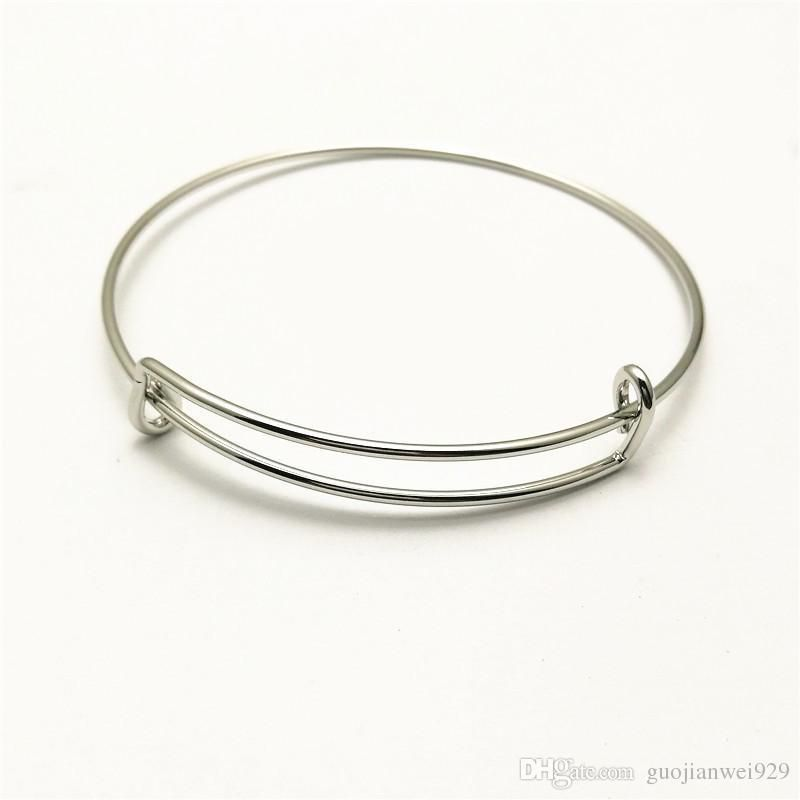 Free Shipping New Arrival Trend All-match Fashion DIY Jewelry Brand New Adjustable Never Fade Stainless Steel Cable Wrist Cuff Bangle