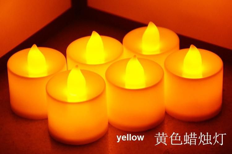 Hot sale 24pcs LED Candles Flicker Flameless Pillar LED bock Wedding decoration event & party supplies
