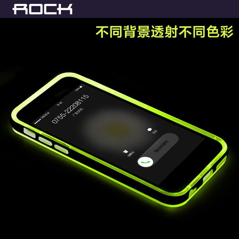 2015 ROCK Mobile Phone case Apple iPhone 6 I5 iphone 6S lightning flash lightning flash protective shell transparent shell phone