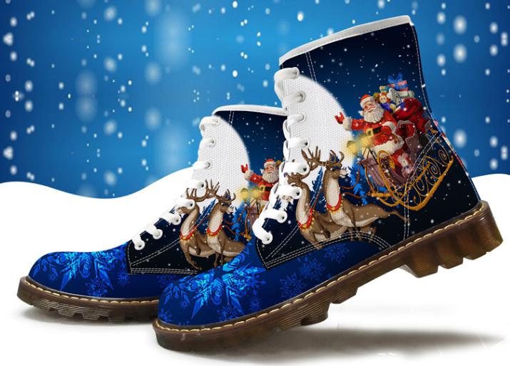 Shoes custom design Christmas shoes Christmas pattern shoes