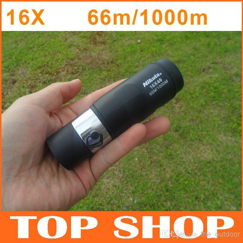 Portable HD Pirate Monocular 16X40 66m/1000m Bak4 Powerful Outdoor Gadgets 115mm Night Vision Telescope HW0025