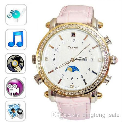 Free Shipping!SPY cameras women watch bulit-in 4GB HD pinhole hidden cameras with mp3