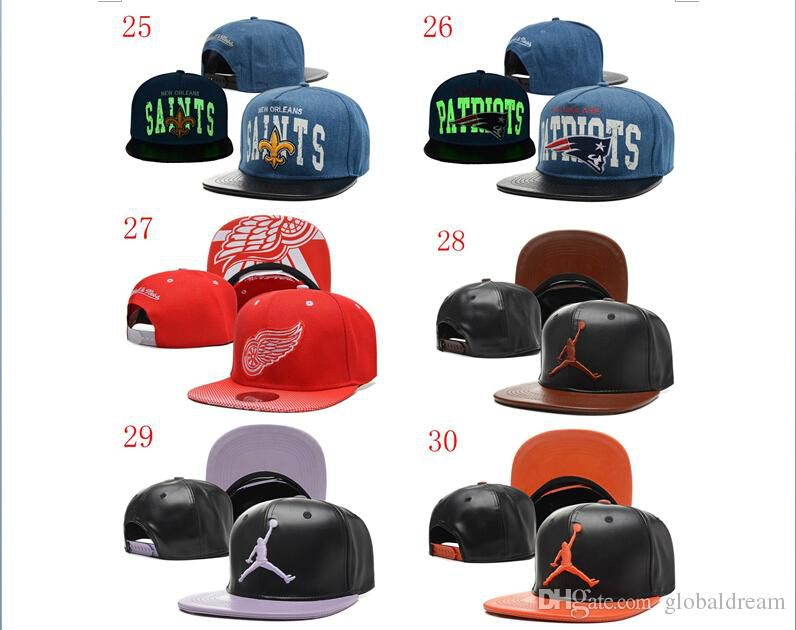 New Arrival many color leather jumperman caps basketball snapcaps Hats Ball Caps Fashion Sun Protection hat