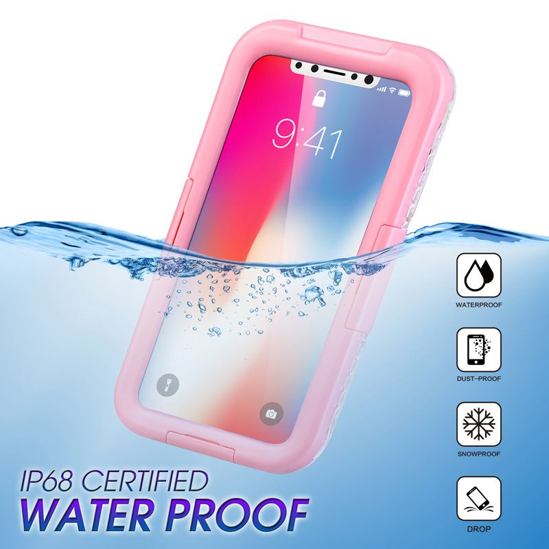 New High Quality Waterproof Phone Cases for Samsung S8 S7 S6 Note5 Underwater Full Cover Case For iPhone X 8/7/6 plus