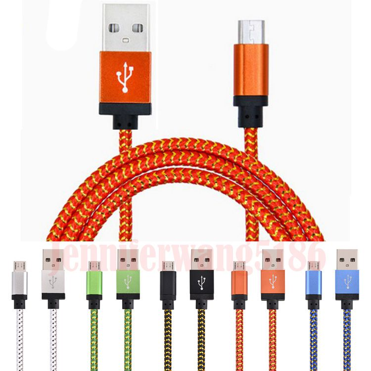 In Stock New Hot Sale Micro V8 USB Cable Portable Charger Cables Charging Cord Weve Android For Samsung 1M 2M 3M