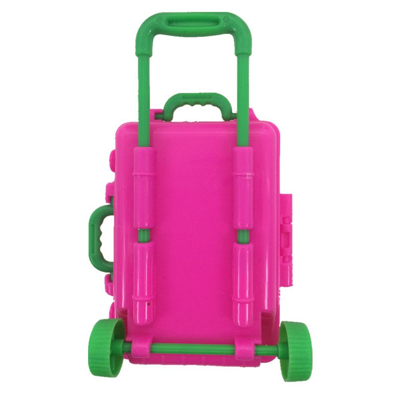 2017 New bag Luggage For barbie doll Fashion Plastic trolley case Doll accessories 4 style for you choose