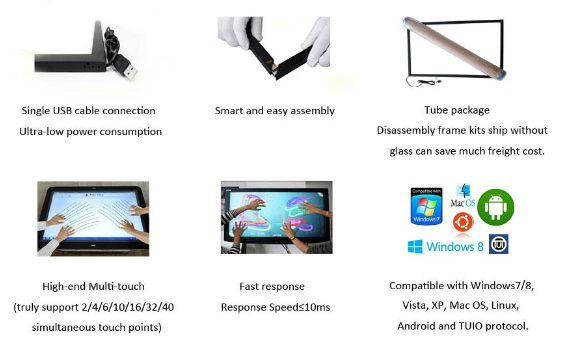17inch free driver USB infrared touch screen, Infrared Touch Screen