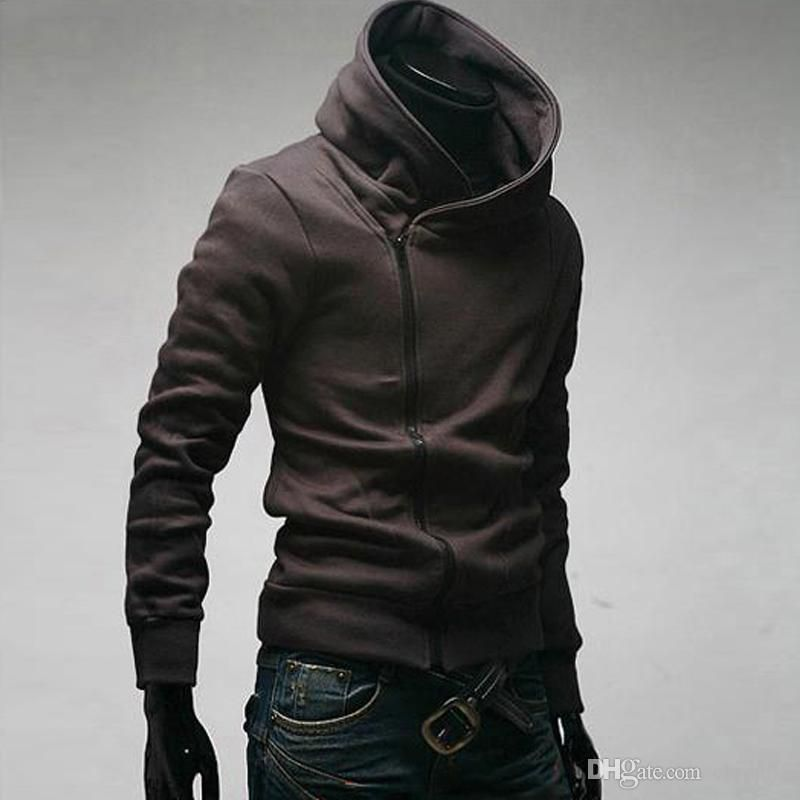 Cool Hoodies Men Spring Tops Long Sleeved Casual Solid Color Sweatshirts Hoodie Zipper Up Cotton Autumn Clothing Pullovers