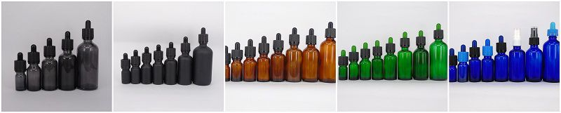30ml essential oil bottle with dropper 1 oz glass boston round bottle with child proof cap