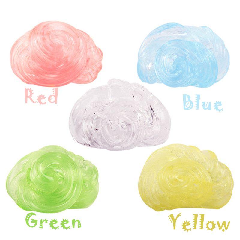 Colorful Transparent Thinking Putty Intelligent Creative Hand Gum Elasticity Environmental protection material Slime Liquid Plasticine Mud