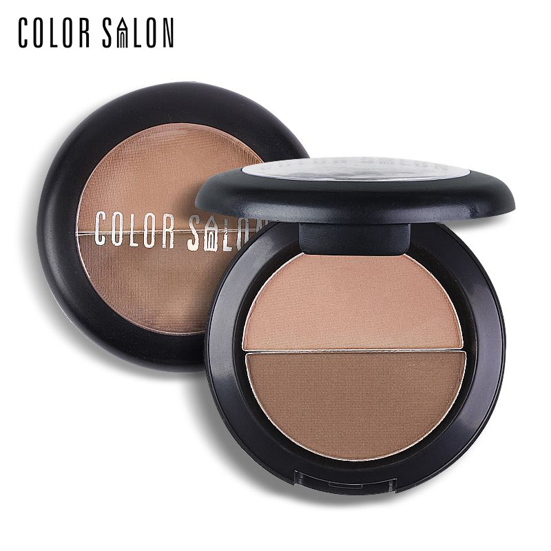 Two color set Eyebrow Powder Palette Makeup Waterproof Pro Nude Brown Shade 1.5g*2 Natural Brand Eyebrow Enhancer