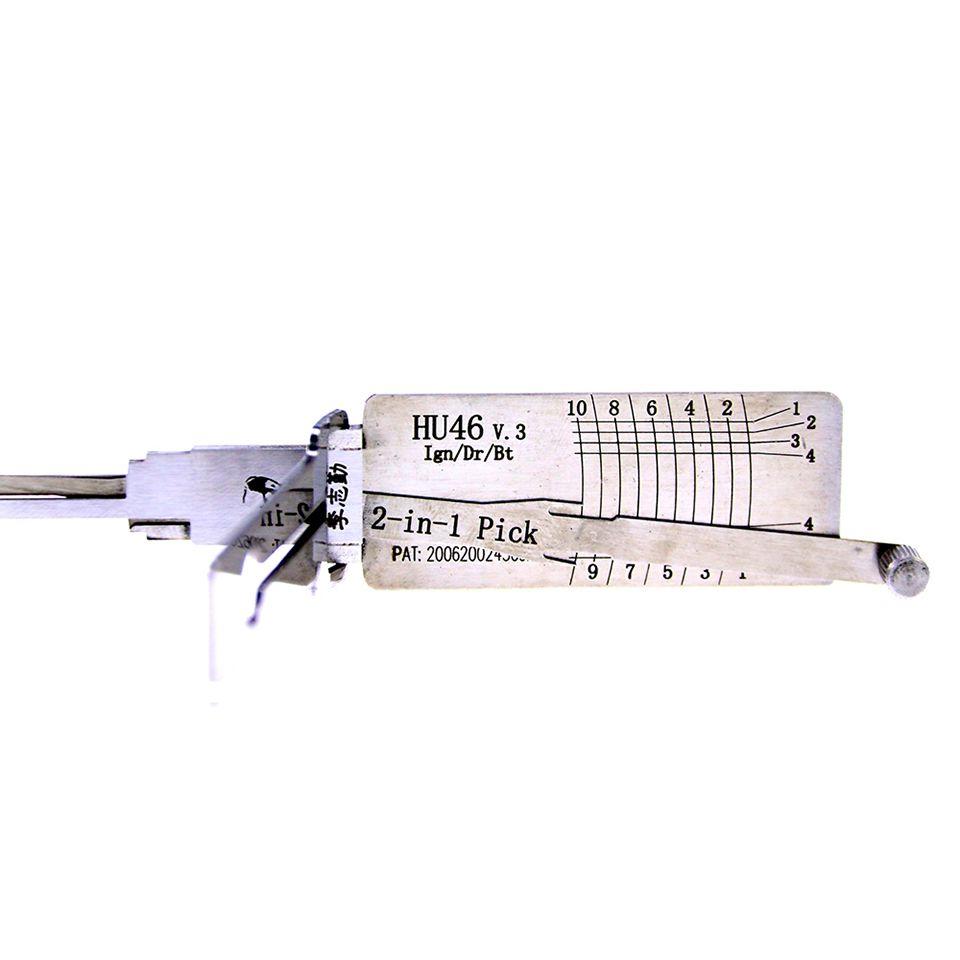 Mr. Li's Original Lishi HU46 V.3 2in1 Decoder and Pick - Best Automotive Locks Unlock Tools on the Market