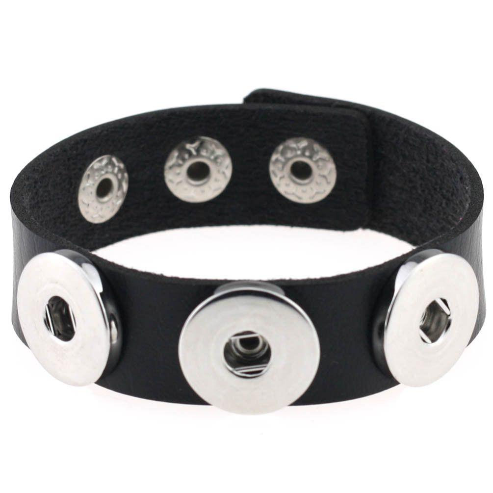 Fashion Button Charm Leather Bracelets For Girls&Boy