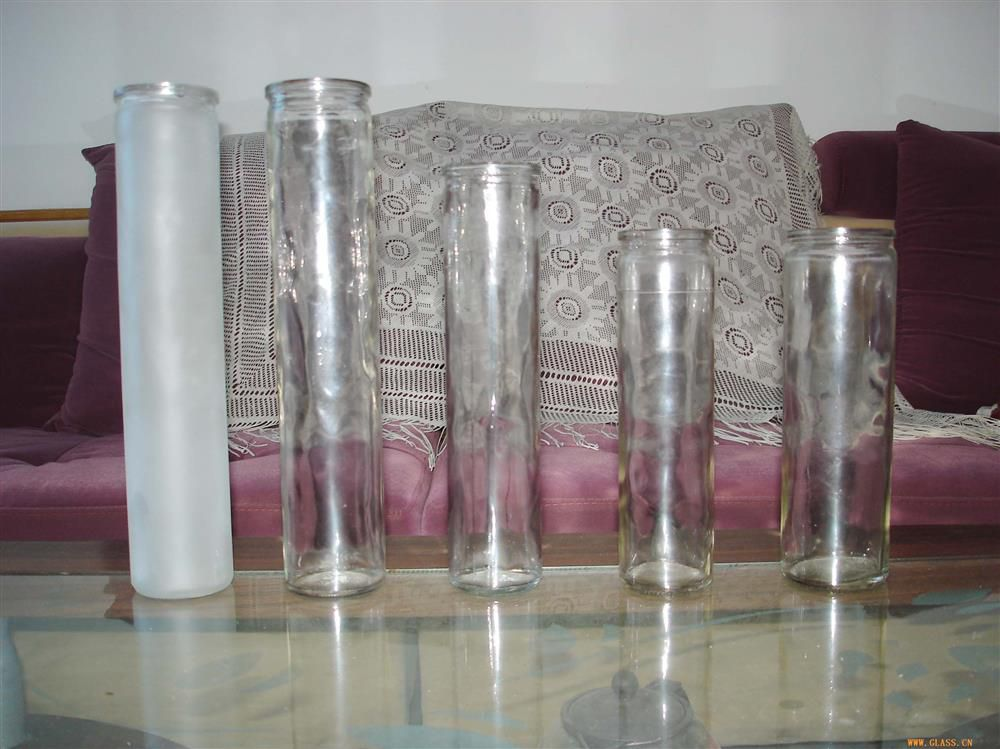 Glass candlestick can be customized