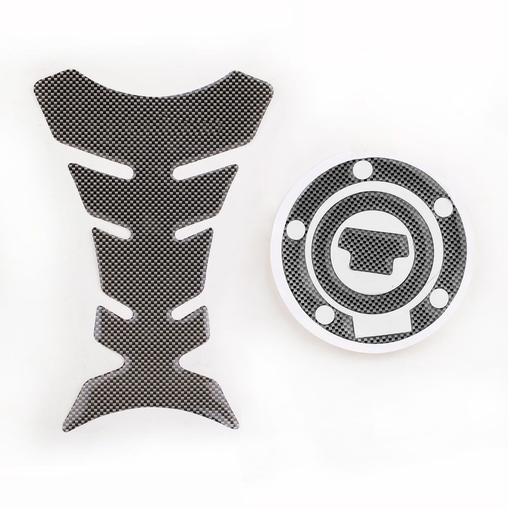 New Carbon-Look Fuel Tank Decal Pad + Gas Cap Pad Cover Sticker For Yamaha YZF R1 R6 order<$18no track