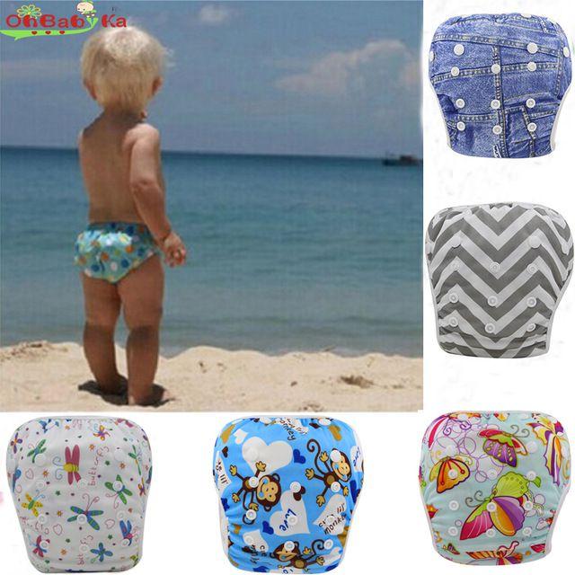 Baby Swim Diaper Leakproof Reusable Adjustable For Baby Swim Nappies Baby Swimwear 0-3 Years Boys Girls