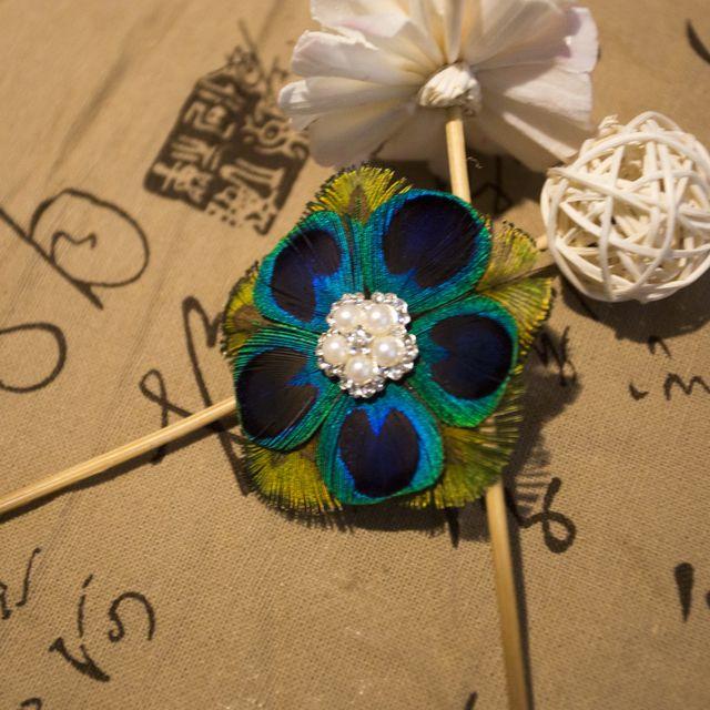 Confession artifact earrings, pure handmade peacock feathers, pierced earrings drop glaze collocation