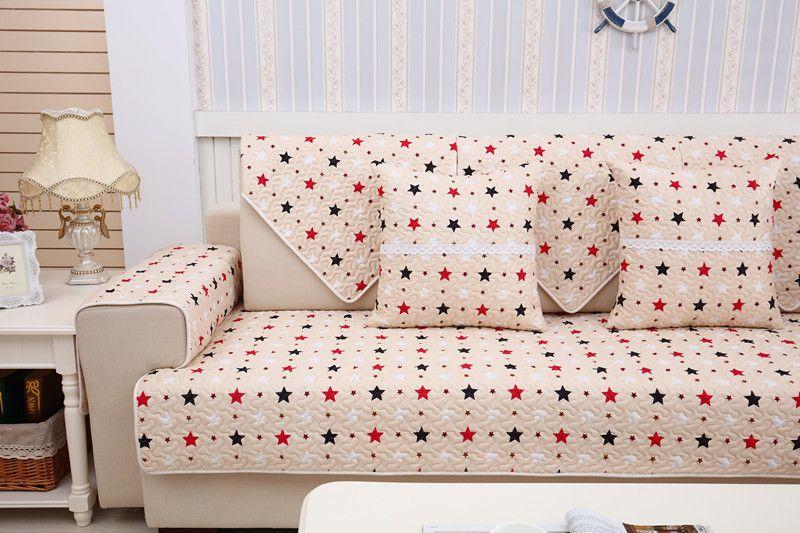 2018 SUPERIA new kind100%cotton skidproof four seasons of sofa cover set bay window