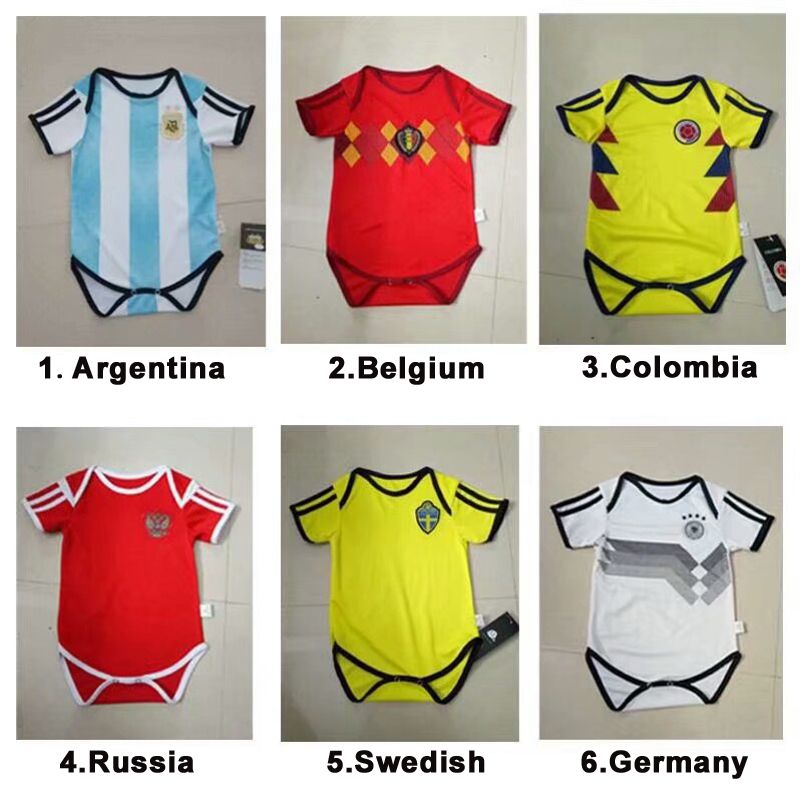 2018 World Cup Baby Kids Soccer Jersey MESSI Best Thai Quality Kids Soccer  Jersey Suit Jersey fa665faf1