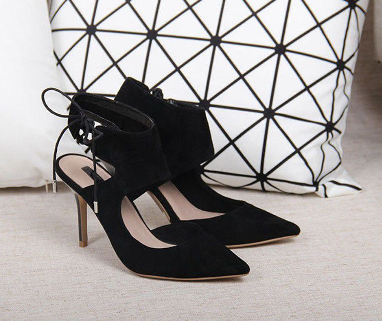 Genuine Leather Women Sexy Pumps Lady New Fashion Pointed Toe High Heels Single Summer Wedding Party Shoes Sandals